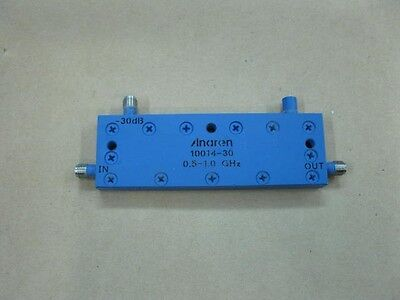 Anaren Microwave 10014-30 0.5-1.0 Ghz -30db Directional Couplers In-line