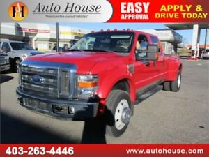 2008 Ford F-450 Lariat 4x4 crew diesel leather low km roof navi