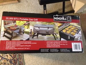 New 20000 BTU NEXGRILL Portable Stainless Steel Gas Grill