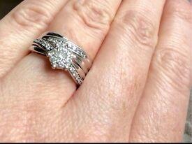 White gold diamond ring set