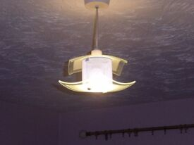 Glass ceiling light. Attractive and contemporary