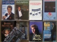A-Z 2x JOE LONGTHORNE JOE LOSS LOOSE ENDS 3x BARRY MANILOW PRERECORDED CASSETTE TAPES