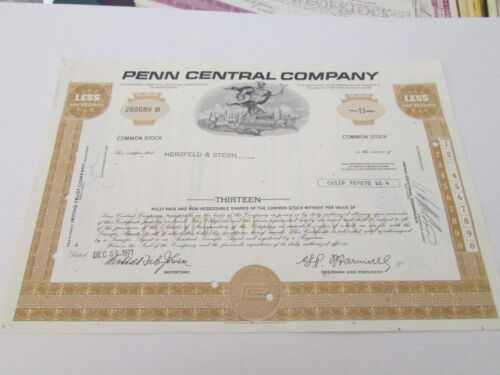 Vintage Railroad Stock Bond Certificate # 7 expired