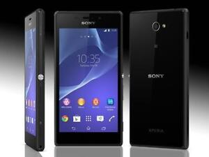 EXCELLENT GROS SONY XPERIA M2 DEBLOQUE / UNLOCKED FIDO ROGERS CHATR TELUS BELL KOODO VIRGIN ANDROID WIFI TOUCH HSPA 4G