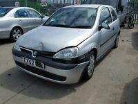 2002 Vauxhall Corsa C Life Breaking Engine Door Boot Tyre Exhaust...