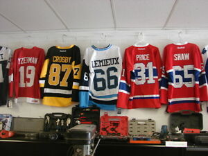 CURRENT AND PAST NHL STAR PLAYER JERSEYS