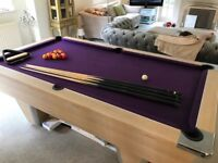 7x4 Slate Bed Pool Table and accessories