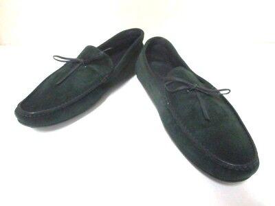 Auth JOHNLOBB Green Suede Shoes Men