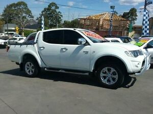 2010 Mitsubishi Triton MN MY11 GLX-R (4x4) White 5 Speed Automatic 4x4 Dual Cab Utility Greenacre Bankstown Area Preview