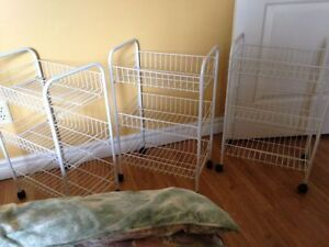 Wire Shelving Storage Trolleys