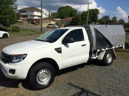 2012 Ford Ranger PX XL 2.2 (4x4) White 6 Speed Manual Cab Chassis Gloucester Gloucester Area Preview
