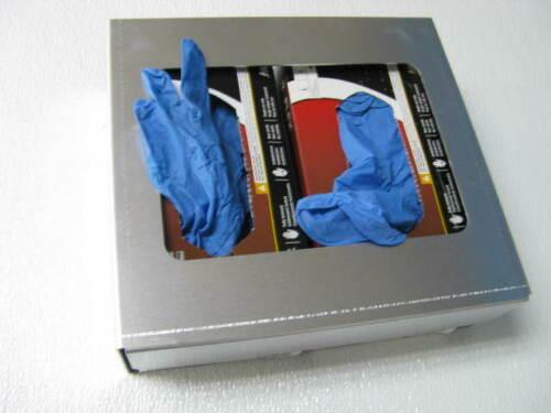 Protective latex glove box dispenser