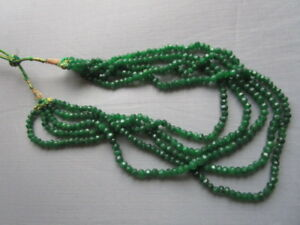 Emerald necklace green color for sale