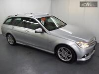 MERCEDES C CLASS C180 KOMPRESSOR BLUEEFFICIENCY SPORT ESTATE, Silver, Auto, Petr