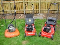 Three excellent Lawn mowers for sale. *****MTD one now sold******