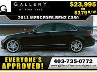 2011 Mercedes C350 4Matic $179 bi-weekly APPLY NOW DRIVE NOW