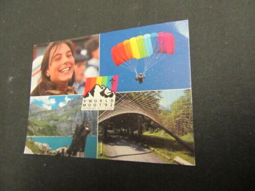 9th World Rover Moot 1992 Kandersteg Postcard      c85