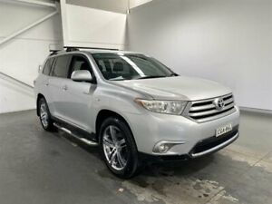 2012 Toyota Kluger GSU45R MY11 Upgrade Grande (4x4) Silver Pearl 5 Speed Automatic Wagon Beresfield Newcastle Area Preview