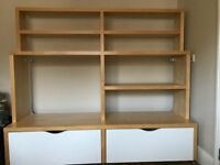 ikea tv unit with drawers and shelves