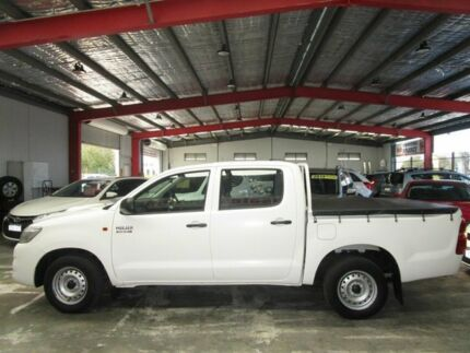 2013 Toyota Hilux KUN16R MY12 SR Double Cab White 5 Speed Manual Utility Welshpool Canning Area Preview
