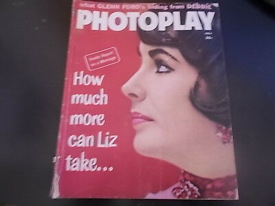 Elizabeth Taylor  Millie Perkins  Roger Moore   Photoplay Magazine 1960