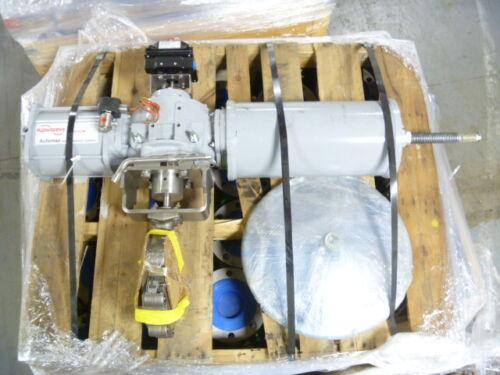 """6"""" Crane Flowseal 06-1DA-221RTG-B0J 150# 316SS Actuated Butterfly Valve NEW (A)"""
