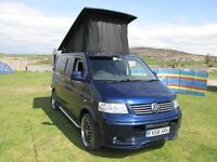 VW Transporter T5 Camper 4 Berth A/C, E/W, 1.9 (140ps) 64,000 miles FSH, 5 speed Manual