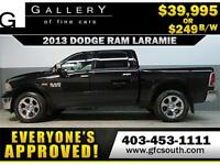2013 DODGE RAM LARAMIE CREW *EVERYONE APPROVED* $0 DOWN $249 BW!