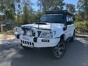 2003 Nissan Patrol Y61 ST-L White 4 Speed Automatic Wagon Kingston Logan Area Preview
