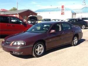 2000 Chevrolet Impala LS 133kms $3500 BEAUTIFUL CAR 1831 SK AVE