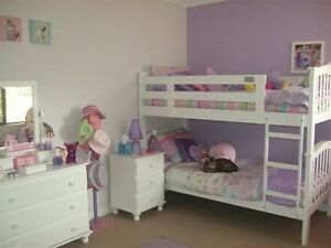 White wooden child's bedroom suite (with bunk or single beds) Palmyra Melville Area Preview