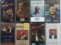 CSL #2. 40 x PAVAROTTI PRERECORDED CASSETTE TAPES. FIRST 50 OF 100 OFFER. MANY MORE SIMILAR ARTISTS.