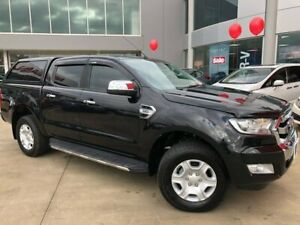 2015 Ford Ranger PX MkII XLT Double Cab 4x2 Hi-Rider Black 6 Speed Manual Utility Ravenhall Melton Area Preview