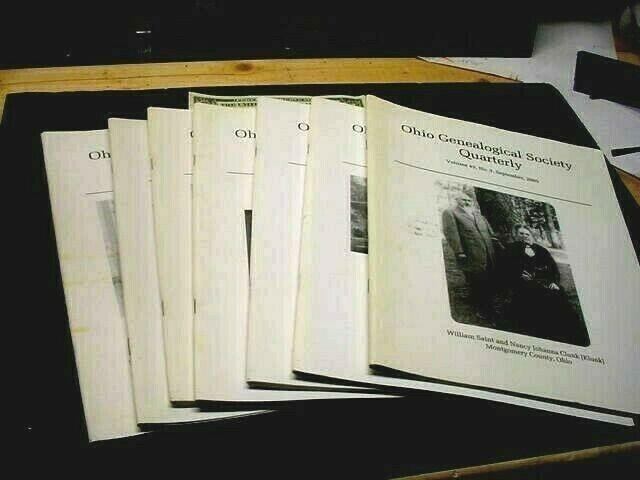 Lot Of 7 Ohio Genealogical Society Quarterly Magazines 2005-2007 Plus Bonus - $23.79