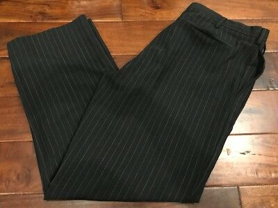 Used, Men's GAP Black Khaki Classic Fit Flat Front Pants Cuffed Bottom Size 38x30 NWT for sale  La Mesa