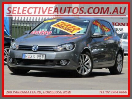 2010 Volkswagen Golf 1K MY10 103 TDI Comfortline Grey 6 Speed Direct Shift Hatchback Homebush Strathfield Area Preview