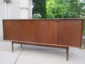 MCM Walnut Credenza by Honderich Furniture Co.