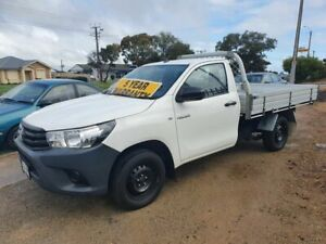 2017 Toyota Hilux TGN121R Workmate 4x2 White 6 Speed Sports Automatic Cab Chassis Morphett Vale Morphett Vale Area Preview
