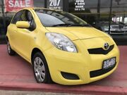 2009 Toyota Yaris NCP91R MY09 YRS Yellow 5 Speed Manual Hatchback Maidstone Maribyrnong Area Preview