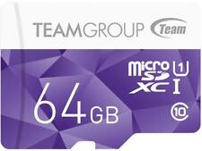 Team Group 64GB Color microSDXC UHS-I/U1 Class 10 Memory Card with Adapter, Spee