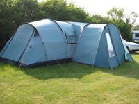 Vango Tigris 800 8 berth tent bundle (incl. porch, carpet & footprint) in great condition