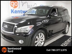 2012 Infiniti QX56 QX56 4WD SUV with NAV, heated/cooled power le