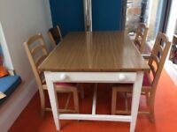 wooden kitchen table seats 6