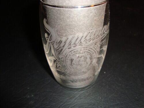 Circa 1910 Reymann Brewing Barrel Shaped Etched Glass, Wheeling, West, Virginia
