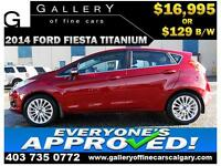 2014 Ford Fiesta Titanium $129 bi-weekly APPLY NOW DRIVE NOW