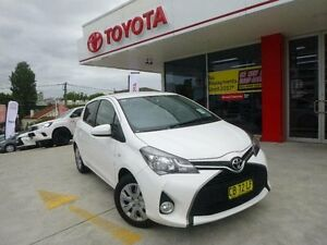 2014 Toyota Yaris NCP131R MY15 SX Glacier White 4 Speed Automatic Hatchback Allawah Kogarah Area Preview