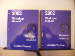 2002 Ford Mustang Repair Manual Set Vol 1-2