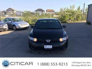 2008 HONDA CIVIC. SPORT COUPE! LOCAL VEHICLE! CERTIFIED! 5SPEED!