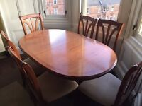 Beautiful dining table and chairs (6) for sale. Bought for over £350