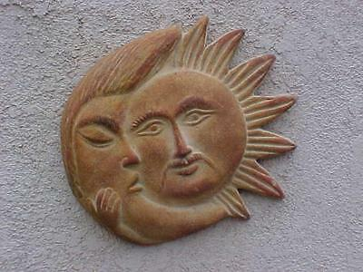Hanging Garden Pictures - MEXICAN WALL POTTERY SUN MOON HANGING GARDEN DECO LARGE 12